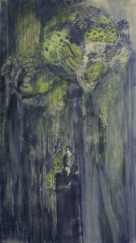 Nachtkugel-2017-116-x-66-cm-Linoleum-Olfarbe