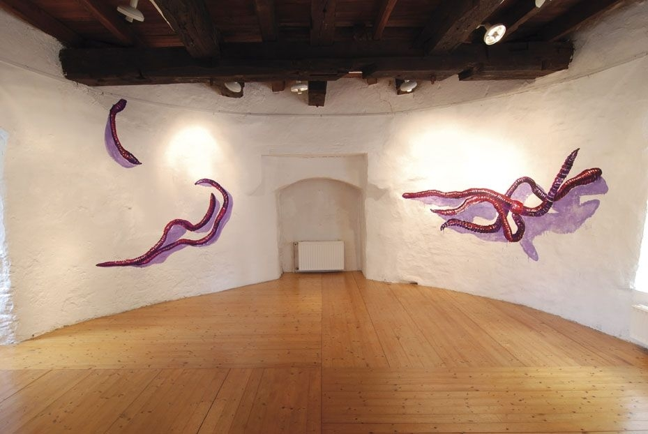Earthworms-2011-mural-oil-painting-Kunstverein-Unna